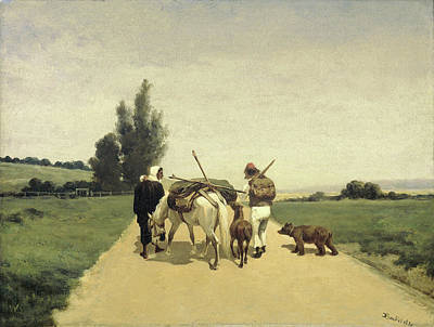 Gypsies On The Road, Karel Frederik Bombled Poster by Litz Collection
