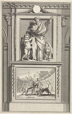 H. Ignatius Of Antioch, Apostolic Father Poster by Jan Luyken And Zacharias Chatelain (ii) And Jan Goeree