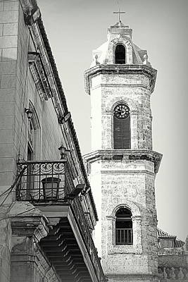 Habana Clock Tower Poster by Valentino Visentini