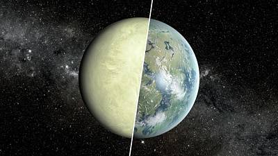 Habitable Vs Non-habitable Zone Planet Poster