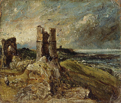 Hadleigh Castle Sketch Of Hadleigh Castle Verso Study Poster by Litz Collection
