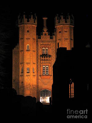 Poster featuring the photograph Hadleigh Deanery By Night by Linda Prewer