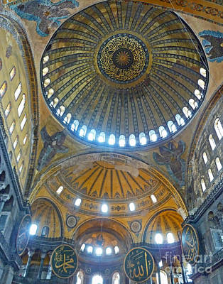 Poster featuring the photograph Hagia Sophia 1 - Istanbul by Cheryl Del Toro
