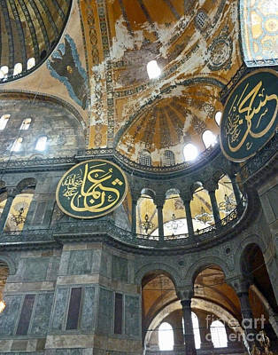 Poster featuring the photograph Hagia Sophia 3 - Istanbul by Cheryl Del Toro