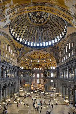 Hagia Sophia Museum In Istanbul Turkey Poster by Ayhan Altun