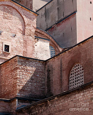 Hagia Sophia Walls 02 Poster by Rick Piper Photography