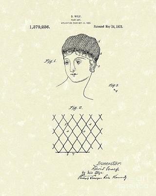 Hair Net 1921 Patent Art Poster