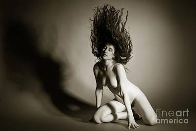 Hair Up Poster by John Tisbury