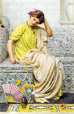 Hairpins Poster by Albert Joseph Moore