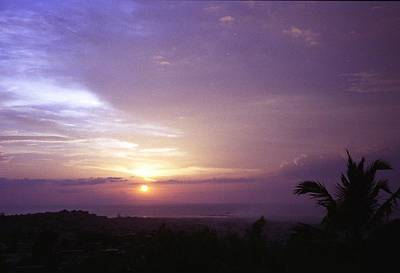 Haitian Sunset Poster