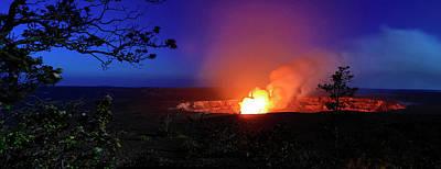 Halemaumau Crater Erupting, Hawaii Poster by Panoramic Images