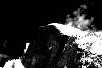 Half Dome In Winter Bw Poster
