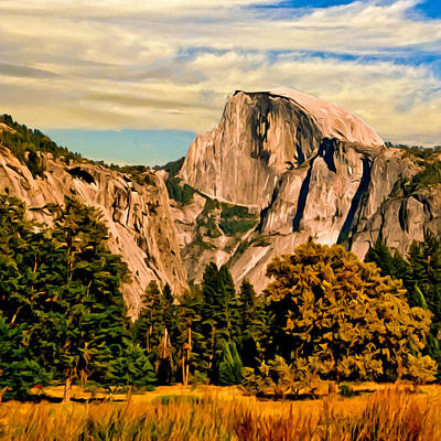 Half Dome Painting Poster by Bob and Nadine Johnston