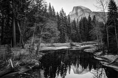 Poster featuring the photograph Half Dome - Yosemite In Black And White by Gregory Ballos