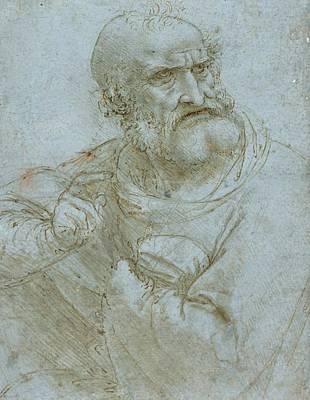 Half-length Figure Of An Apostle Poster by Leonardo da Vinci