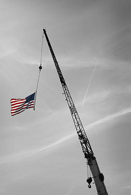 Half-mast Poster by Luke Moore