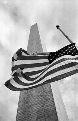 Half Staff At Washington Monument Poster