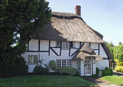 Half-timbered Thatched Cottage Poster by Jayne Wilson