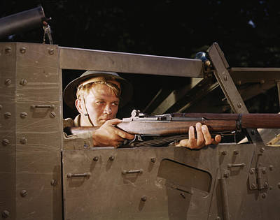 Half-track Infantryman With Garand Poster by Stocktrek Images