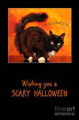 Halloween Cat Poster by Randi Grace Nilsberg