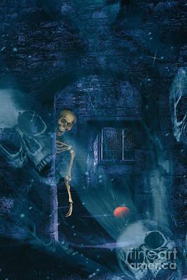 Halloween Double Exposure Poster by Amanda Elwell