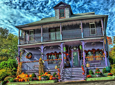 Halloween House Poster by Perry Frantzman