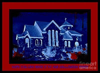 Halloween Invitation Poster by John Malone
