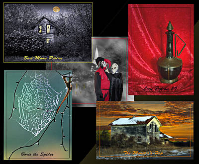 Halloween Melody Collage Poster by Judy  Johnson