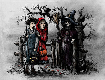 Halloween Night Poster by Rachel Christine Nowicki