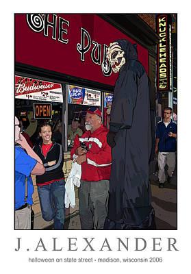 Halloween On State Street Madison Wisconsin 2006 Poster