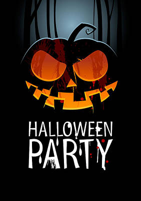 Poster featuring the painting Halloween Party by Gianfranco Weiss