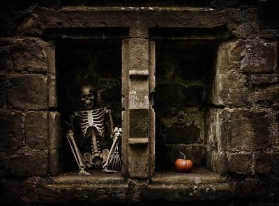 Halloween Skeleton Poster by Amanda Elwell