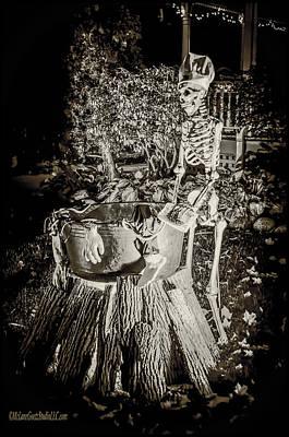 Halloween Skeleton Cooking Poster by LeeAnn McLaneGoetz McLaneGoetzStudioLLCcom