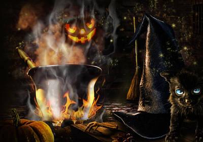 Halloween' Spirit Poster by Alessandro Della Pietra
