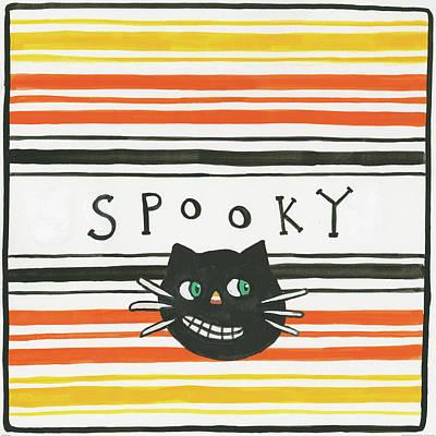 Halloween Spooky Cat Poster by Melissa Averinos