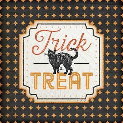 Halloween Trick Or Treat Poster by Jennifer Pugh