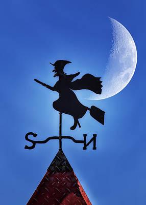 Halloween Weather Poster by Bill Tiepelman