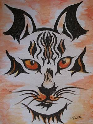 Halloween Wild Cat Poster by Teresa White