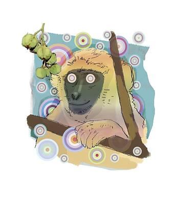 Hallucinating Monkey, Artwork Poster