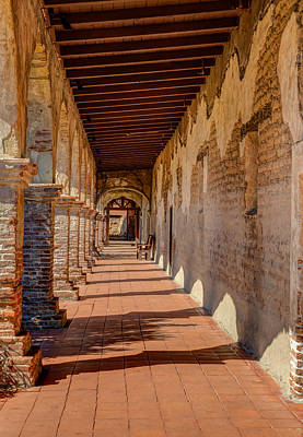 Hallway 1 At San Juan Capistrano Poster