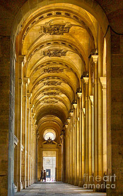 Hallway At The Louvre In Paris Poster