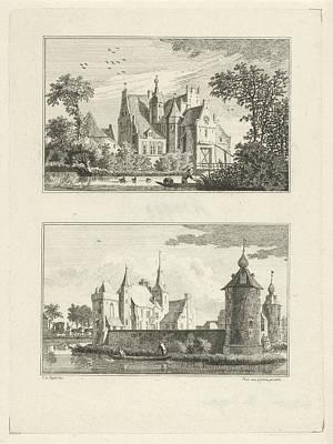 Halsaf Castle And Castle Grondstein, The Netherlands Poster by Paulus Van Liender