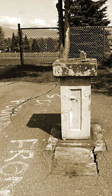Poster featuring the photograph Lonely Drink Fountain by Laurie Tsemak