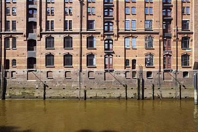 Hamburg - Facade At The Old Warehouse District Of Red Bricks Poster