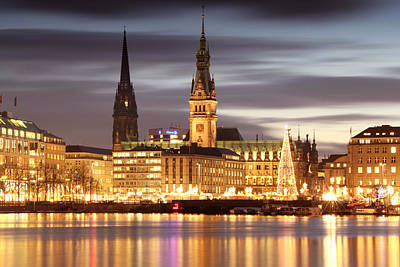 Hamburg Christmas Poster
