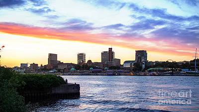 Hamburg Riverside Poster
