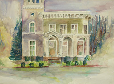 Poster featuring the painting Hamden House by Lynn Buettner