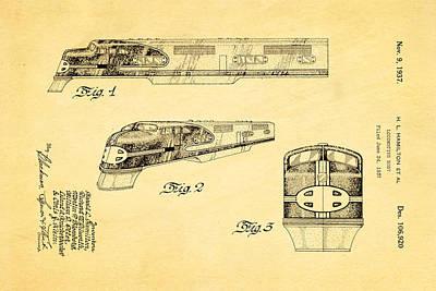 Hamiton Locomotive Patent Art 1937 Poster