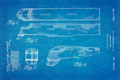 Hamiton Locomotive Patent Art  2 1937 Blueprint Poster