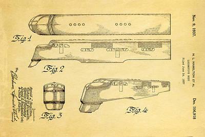Hamiton Locomotive Patent Art  2 1937 Poster
